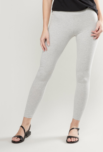 Solid Full Length Anti-Pilling Leggings with Elasticised Waistband