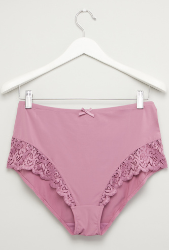 Lace Detail Briefs with Elasticised Waistband