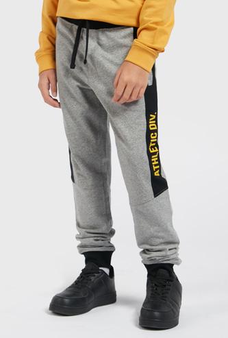 Printed Jog Pants with Drawstring Closure and Pockets