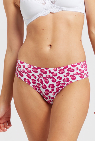 Animal Print Cheeky Brazilian Briefs