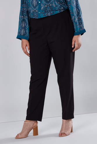 Plain Full Length Trousers with Pocket Detail