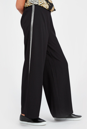 Solid Pants with Elasticised Waistband