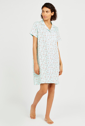All Over Miffy Print Sleepshirt with Short Sleeves