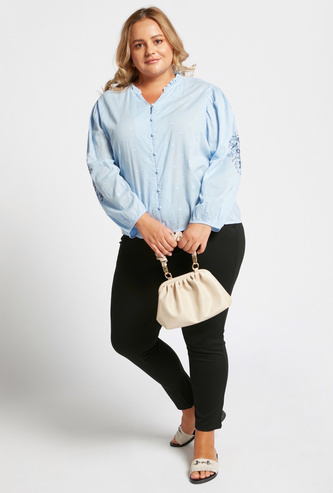 Skinny Fit Solid Ankle-Length Ponte Pants