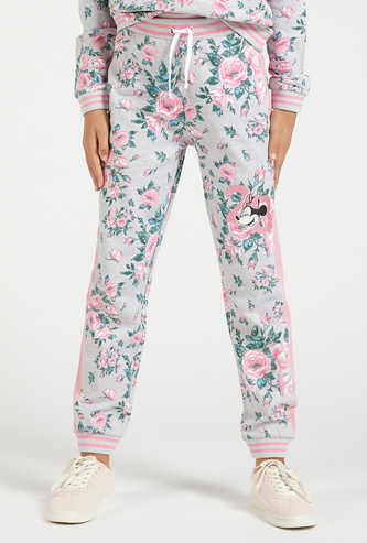 Minnie Mouse Print Full Length Jogger with Drawstring Closure