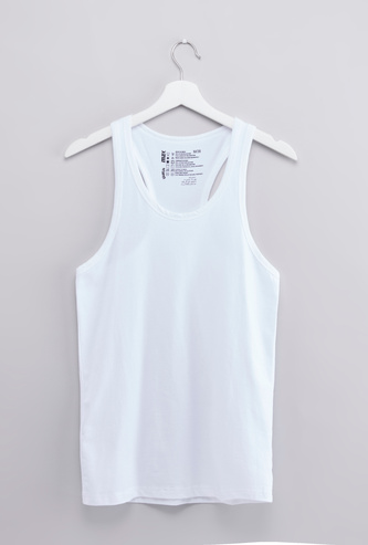 Solid Vest with Scoop Neck and Racerback