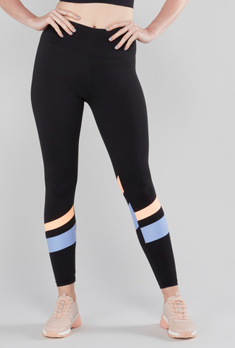 Stripe Detail Leggings with Elasticised Waistband