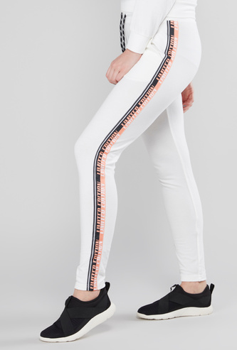Tape Detail Jog Pants with Drawstring and Pocket Detail