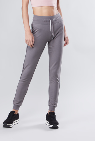 Full Length Plain Jog Pants with Elasticised Waistband