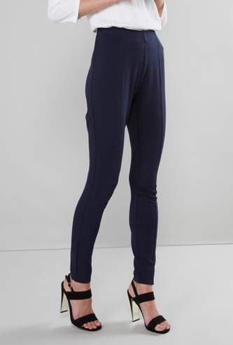 Solid Formal Mid-Rise Jeggings