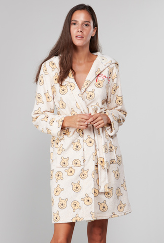 Cozy Collection Printed Robe with Front Knot Closure