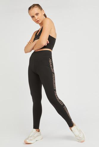 Full Length Foil Print Leggings