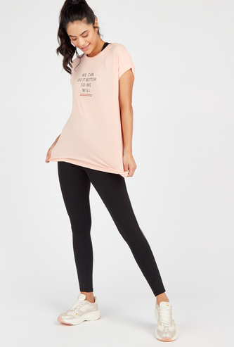 Solid Full-Length Mid-Rise Leggings