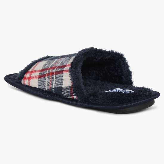 FORCA Checked Fleece Slippers