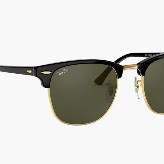 RAY-BAN Men Solid UV-Protected Clubmaster Sunglasses - 0RB3016-W0365-49