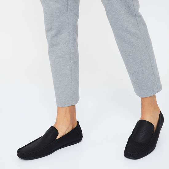 CODE Textured Slip-On Shoes