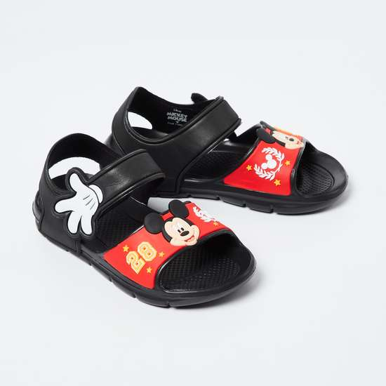 FAME FOREVER Slingback Sandals with Mickey Mouse Applique