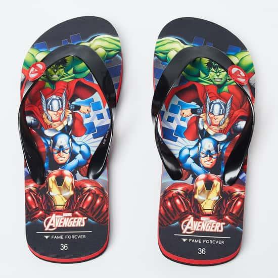 FAME FOREVER Avengers Print Flip-Flops