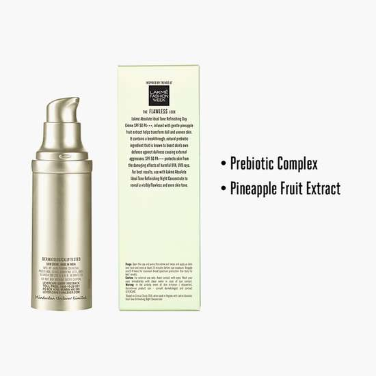 LAKME Absolute Ideal Tone Refinishing Day Cream SPF 50 PA +++
