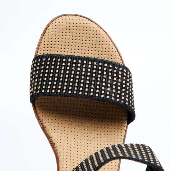 CATWALK Sequinned Ankle Strap Wedges