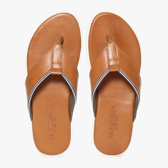 U.S. POLO ASSN. Textured Thong Slippers