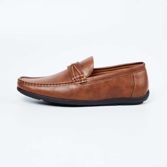 CODE Genuine Leather Penny Loafers
