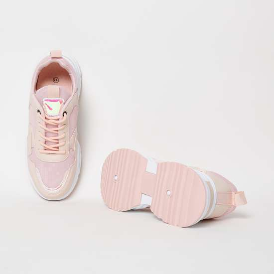 GINGER Panelled Lace-Up Casual Shoes