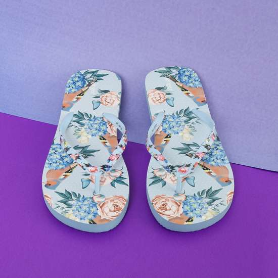 GINGER Floral Print Flip-Flops