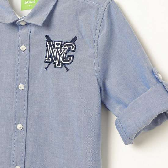 BOSSINI Embroidered Casual Shirt