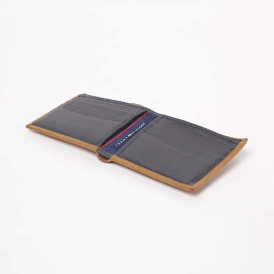 TOMMY HILFIGER Men Engraved Leather Two-Fold Wallet