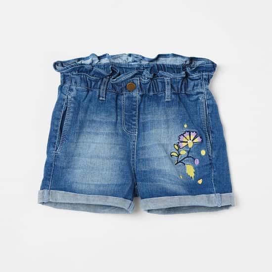 BOSSINI Girls Stonewashed Denim Shorts
