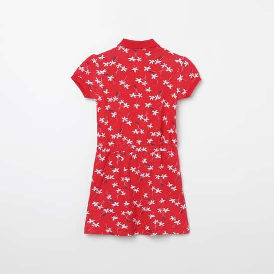 U.S. POLO ASSN. KIDS Floral Print T-shirt Dress