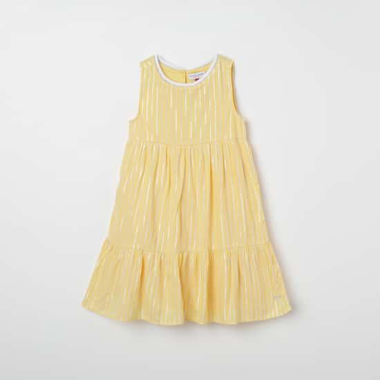 U.S. POLO ASSN. KIDS Striped Sleeveless A-line Dress