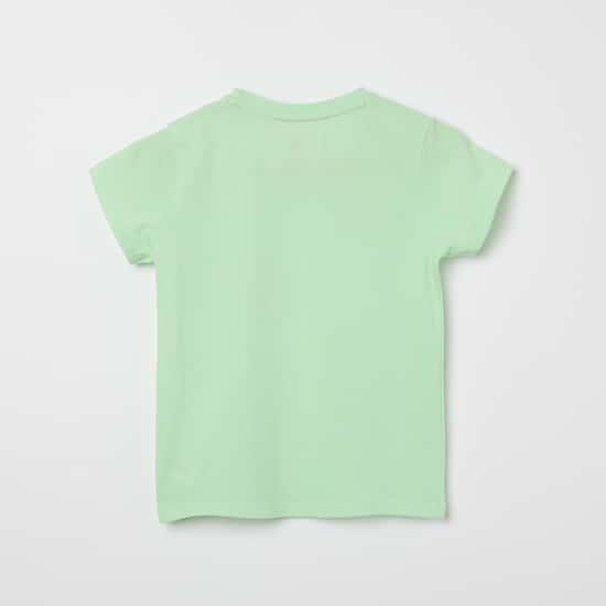 U.S. POLO ASSN. KIDS Typographic Print Round-Neck T-shirt