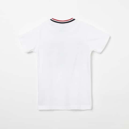 PARIS SAINT-GERMAIN F.C. Typographic Print Crew-Neck T-shirt