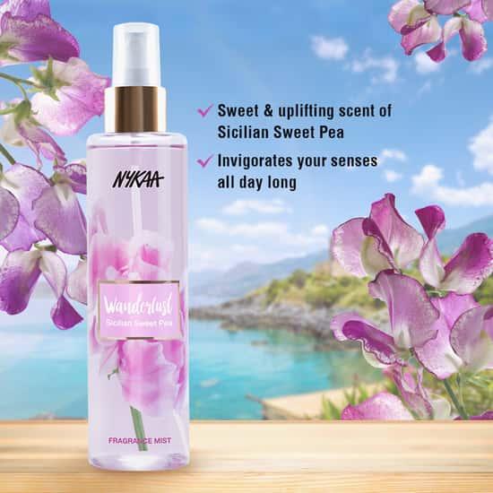NYKAA Wanderlust Sicilian Sweet Pea Fragrance Mist