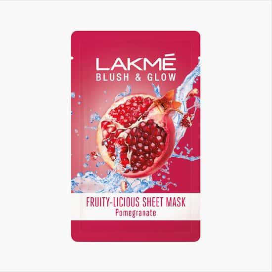 LAKME Blush & Glow Sheet Mask - Pomegranate