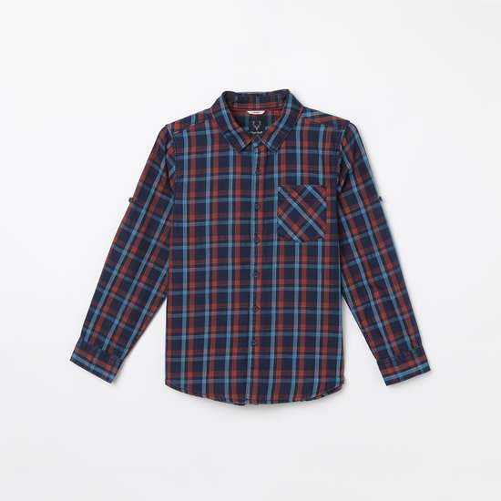 ALLEN SOLLY Checked Full Sleeves Casual Shirt