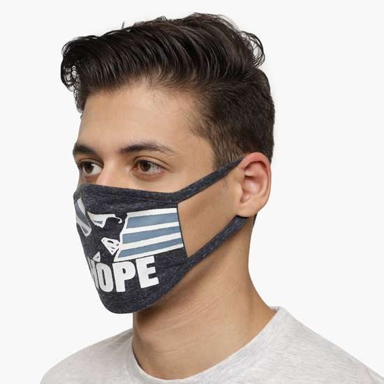 FREE AUTHORITY Men Batman Print 3-Layered Reusable Mask - Assorted