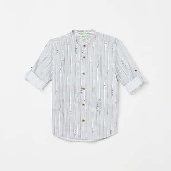 BOSSINI Boys Striped Full Sleeves Casual Shirt