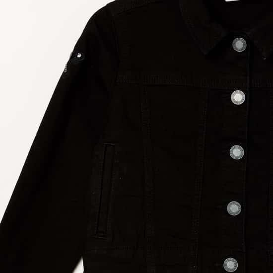 BOSSINI Girls Solid Denim Jacket