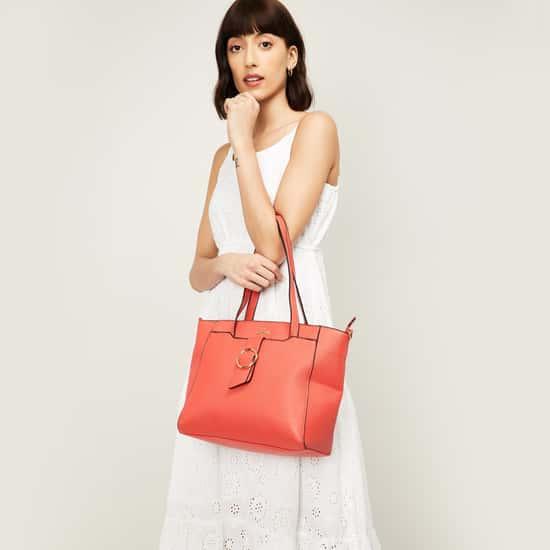 LAVIE Women Solid Zip-Closure Trapeze Handbag