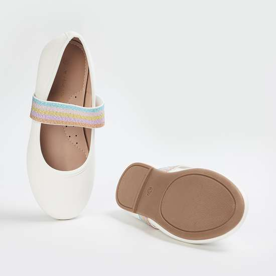 FAME FOREVER Girls Solid Ballerinas with Elastic Straps