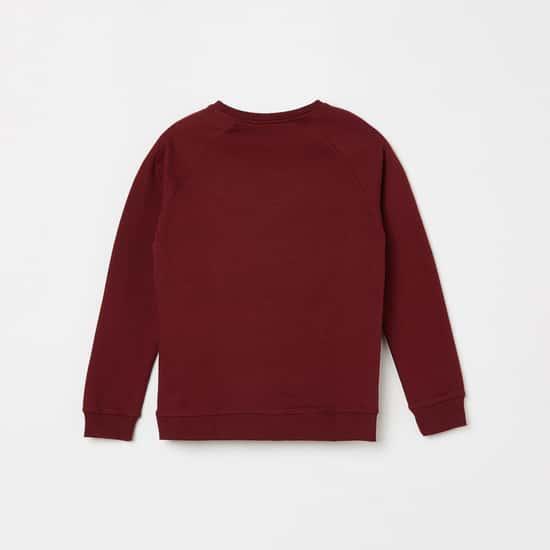 BOSSINI Girls Embellished Full Sleeves Sweatshirt