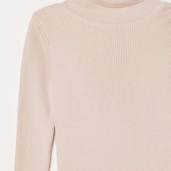 FAME FOREVER KIDS Girls Solid High-Neck Sweater