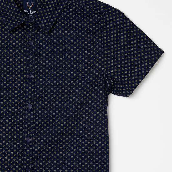 ALLEN SOLLY Boys Printed Half-Sleeves Shirt