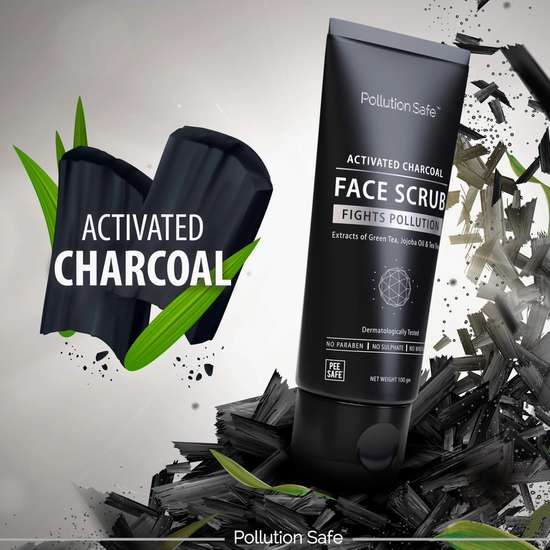POLLUTION SAFE Activated Charcoal Face Scrub