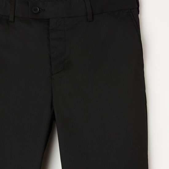 FAME FOREVER KIDS Boys Solid Flat-Front Slim Fit Trousers