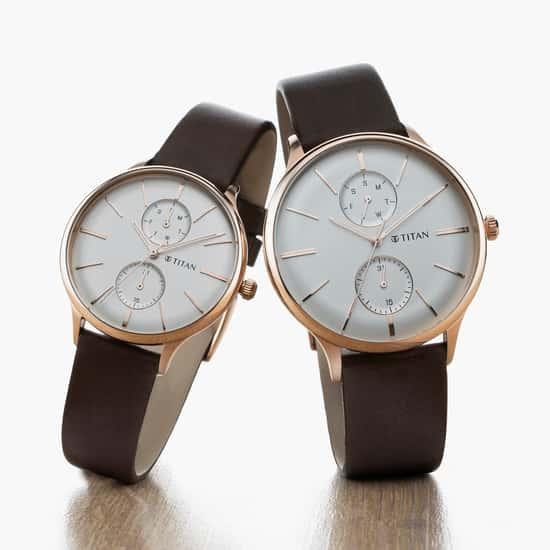 TITAN Modern Bandhan III Couples Multifunctional Watch- 9400394203WL01