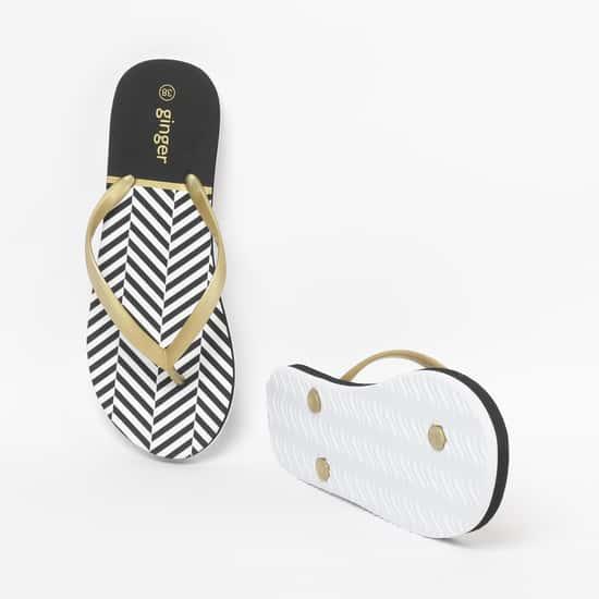 GINGER Women Printed Flip Flops